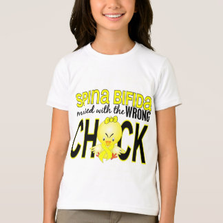 Messed With Wrong Chick 1 Spina Bifida T-Shirt