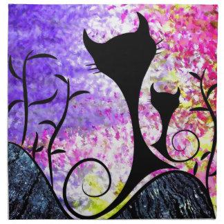 Messemios - black cats napkin