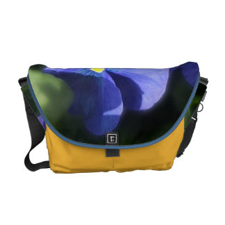 Messenger Bag - Blue Pansy Sisters Courier Bags