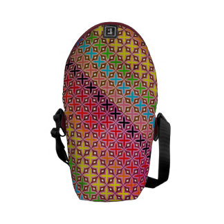 Messenger Bag Cross Pattern Rainbow