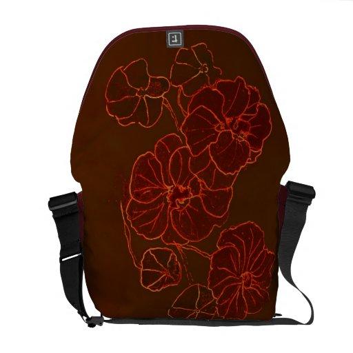Messenger Bag Elegant Nasturtiums