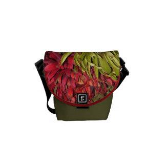 Messenger Bag - Fall Flowers