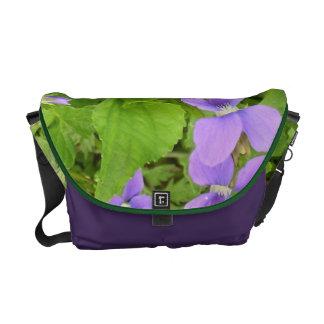 Messenger Bag - Herb Violets Ground Cover