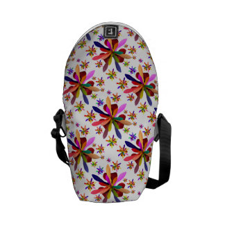 Messenger Bag-Mini with Stylized Flower 1 Courier Bags