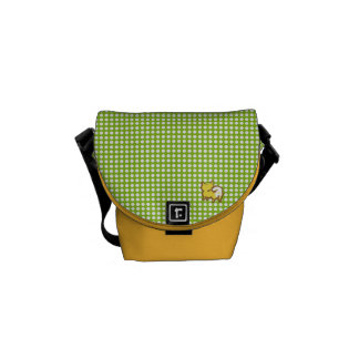 Messenger bag of 柴 dog and polka dot - Shiba and a