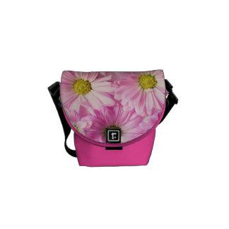 Messenger Bag - Pink Gerbera Daisies