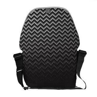 Messenger Bag Retro Zig Zag Chevron Pattern