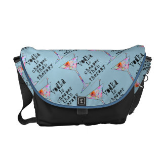 MESSENGER BAG - VODKA IS CHEAPER THAN THERAPY