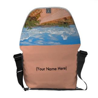 Messenger Bag with Arizona Desert road