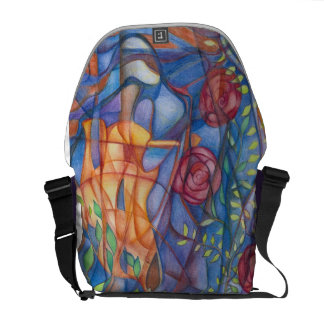 messenger bag with colorful design