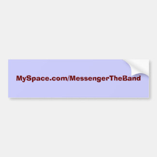 Messenger@MySpace Bumper Sticker Car Bumper Sticker