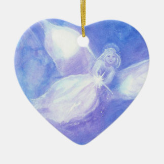 Messenger of Light Heart Christmas Ornament