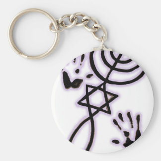 Messianic prints key ring