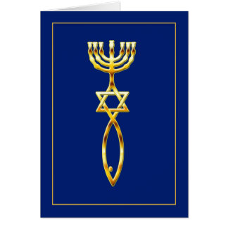 Messianic Seal - blue Card