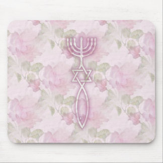Messianic Seal Floral Mousepad