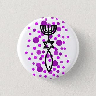 Messianic Symbol With Purple Dots 3 Cm Round Badge