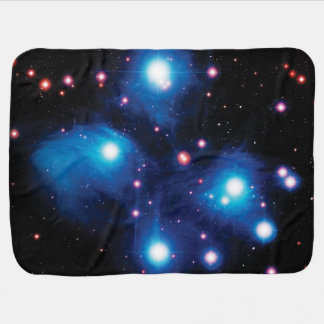 Messier 45 Pleiades Star Cluster Swaddle Blankets