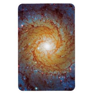 Messier 74 Spiral Galaxy Rectangular Photo Magnet