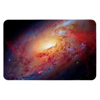 Messier M106 Spiral Galaxy Rectangular Photo Magnet