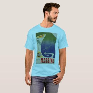Messina port of Sicily vintage Italian travel ad T-Shirt