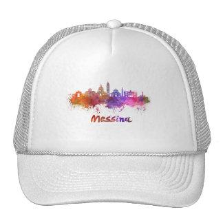 Messina skyline in watercolor cap