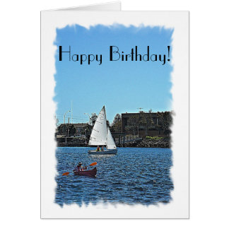 Messing about in boats Birthday Card