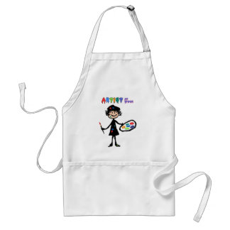 Messy Artist At Work Adult Apron