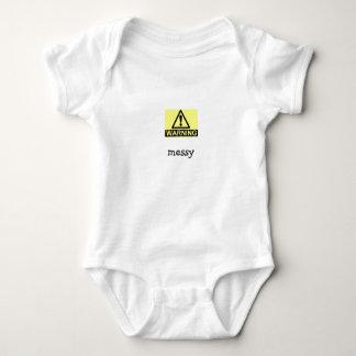 messy baby bodysuit