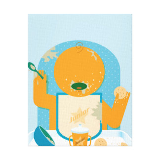 Messy Baby Stretched Canvas Prints