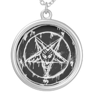 Messy Baphomet Silver Plated Necklace