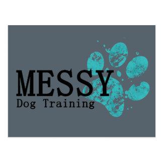 MESSY Dog Training Postcard