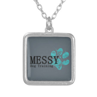 MESSY Dog Training Silver Plated Necklace