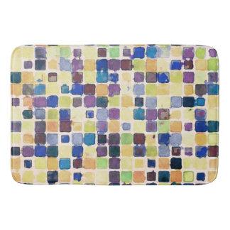 Messy Geometric Tiles Bath Mat