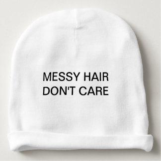 Messy Hair Don't Care Beanie Baby Beanie