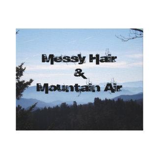 Messy Hair & Mountain Air Canvas Print