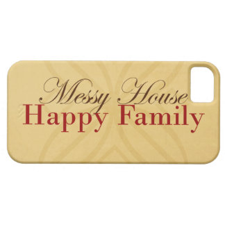 Messy House Happy Family In Tan and Red iPhone 5 Cover