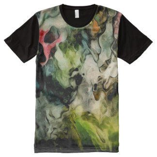 Messy Palette Cool Abstract Pattern All-Over Print T-Shirt
