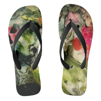 Messy Palette Cool Abstract Pattern Thongs