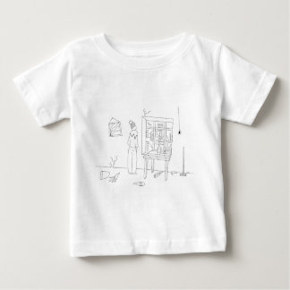 Messy room with a city view tees