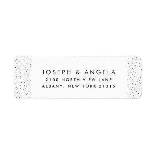 Messy Tiny Inky Spots Wedding Return Address Return Address Label