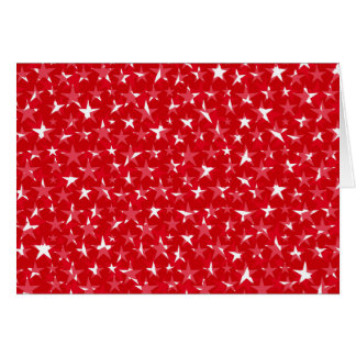 Messy White stars on bold red greeting card