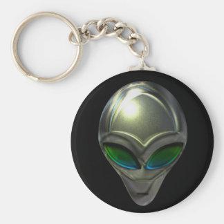 Metal Alien Head 02 Keychain
