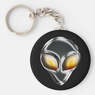 Metal Alien Head Keychain