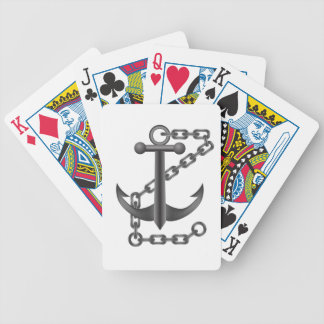 metal anchor bicycle playing cards