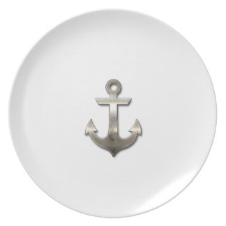 Metal Anchor Dinner Plates
