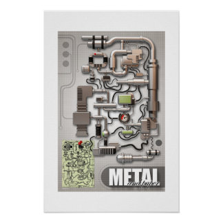 Metal and Paper Posters