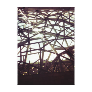 Metal Architecture Wrapped Canvas