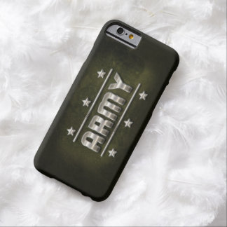 Metal Army Text Barely There iPhone 6 Case