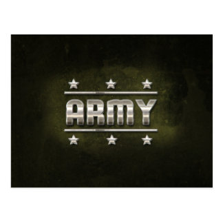 Metal Army Text Postcard