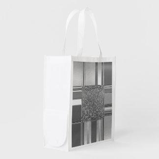 metal art silver 03 reusable grocery bag